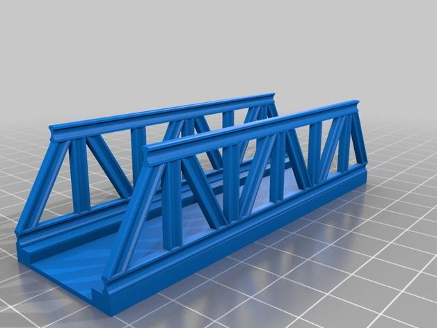 桁架桥 火车轨道