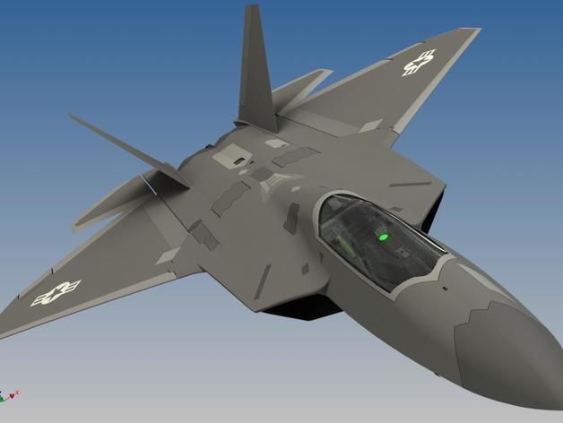 F-22 猛禽战斗机 3D打印模型渲染图