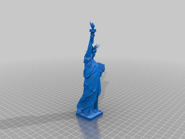 自由女神像3D模型 3D打印模型渲染图