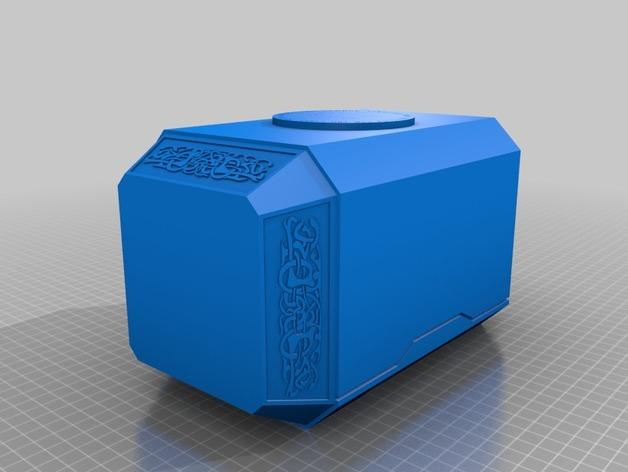 雷神之锤 锤头 3D打印模型渲染图