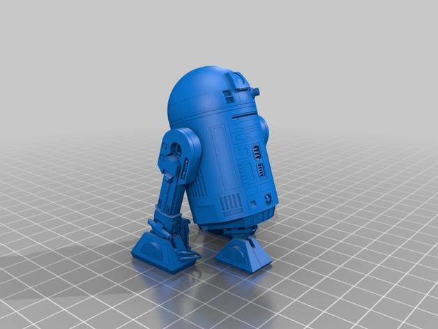 R2-D2 机器人 3D打印模型渲染图
