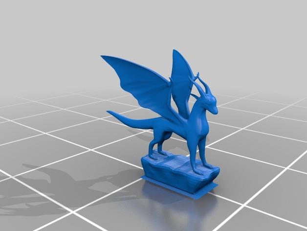 麒麟模型 3D打印模型渲染图
