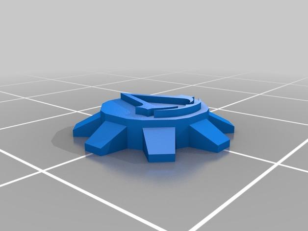 刺客信条臂剑 3D打印模型渲染图