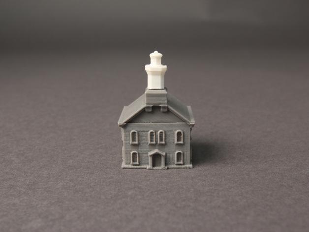 格林威治天文台 3D打印模型渲染图