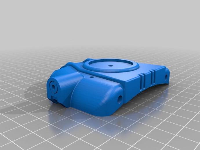 Pip-Boy手腕电脑推手板 3D打印模型渲染图