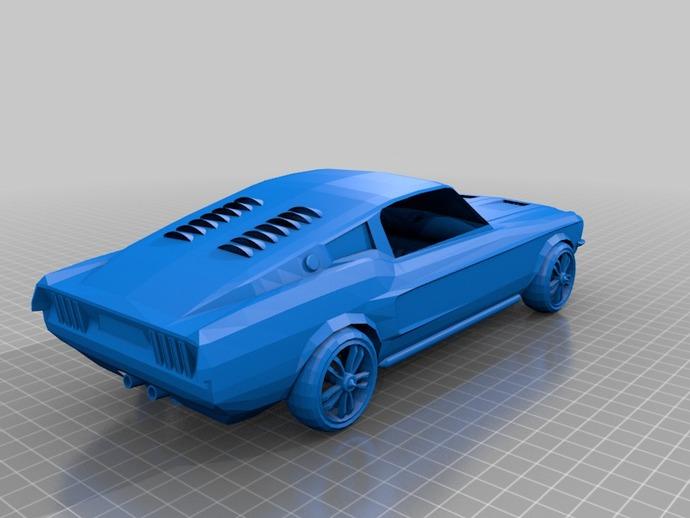 福特Mustang汽车模型 3D打印模型渲染图