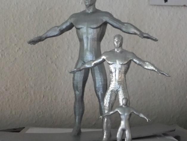 银影侠  3D打印模型渲染图