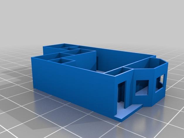 公寓 房屋结构 3D打印模型渲染图
