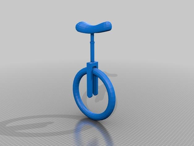独轮车  3D打印模型渲染图