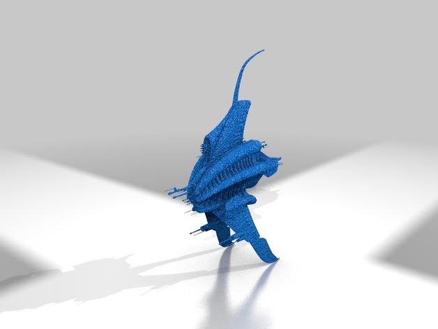 Minbari巡洋舰 3D打印模型渲染图