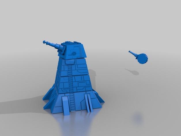激光炮塔 3D打印模型渲染图