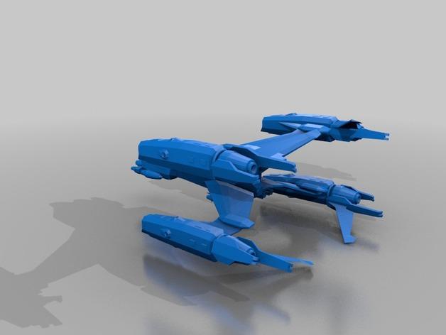 Starfury战斗机 3D打印模型渲染图