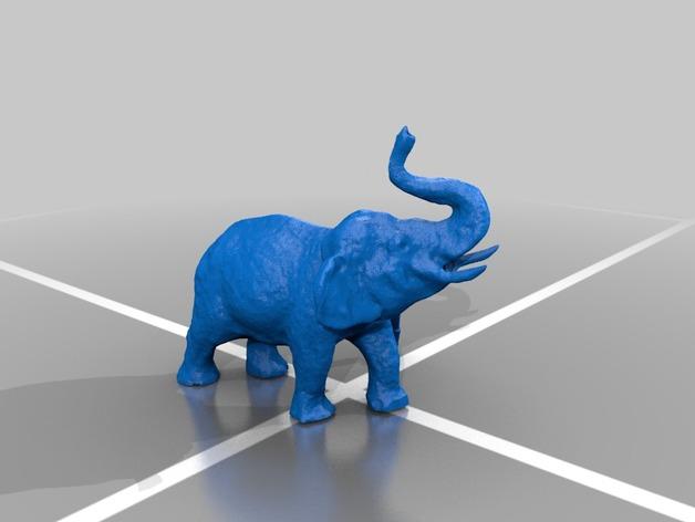 大象 公象 3D打印模型渲染图