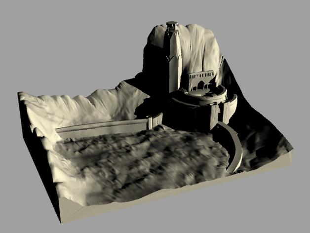 圣盔谷 指环王  3D打印模型渲染图