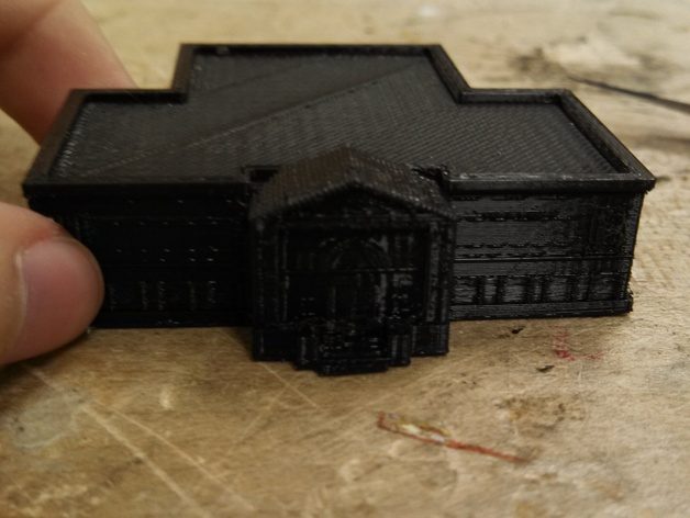 卡内基图书馆大厦 3D打印模型渲染图