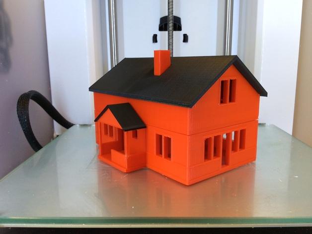 农家小院 3D打印模型渲染图