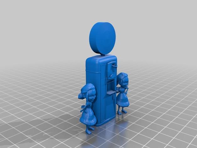 采收园机器 3D打印模型渲染图