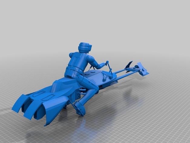 暴风军摩托艇 3D打印模型渲染图