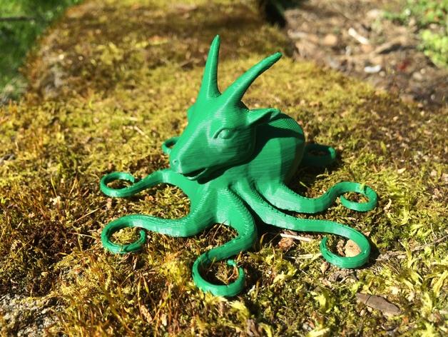 山羊章鱼 3D打印模型渲染图