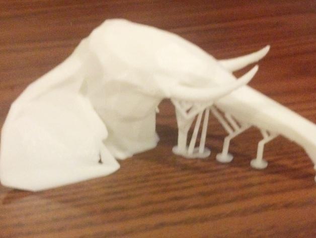 几何低面数大象头模型 3D打印模型渲染图