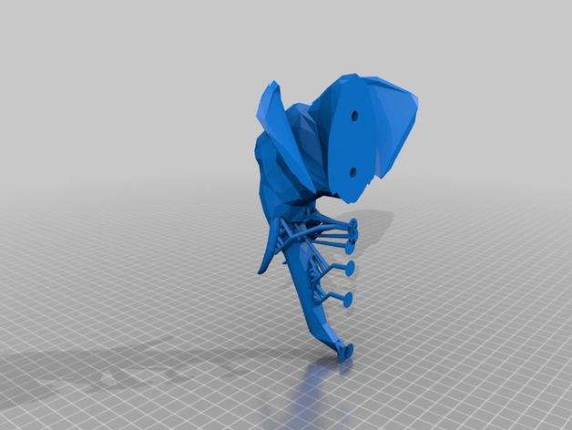 几何低面数大象头模型