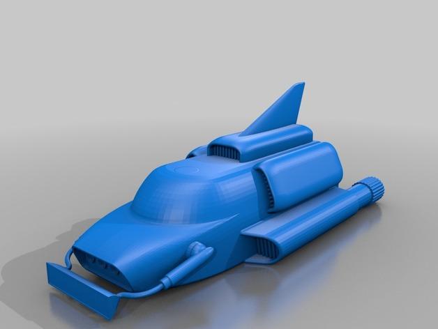雷鸟飞机 3D打印模型渲染图