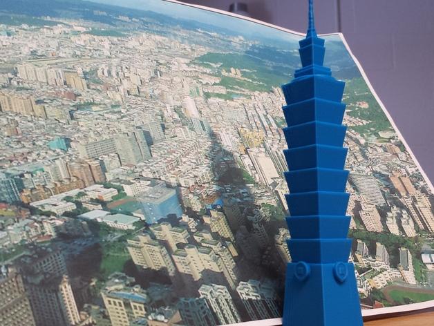 台北101大楼 3D打印模型渲染图