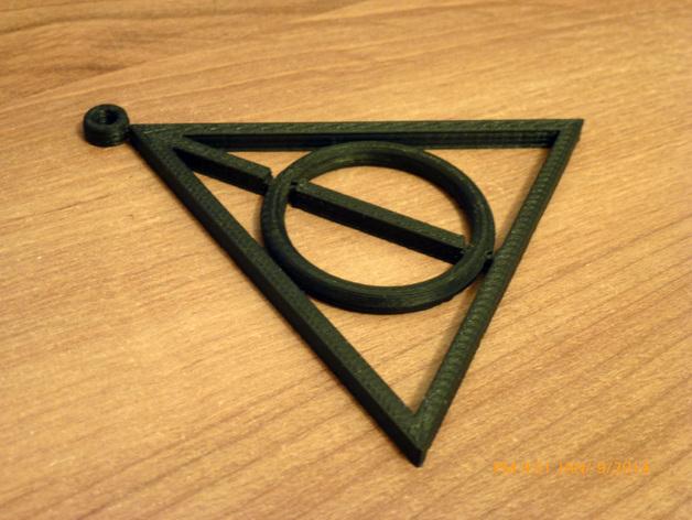 死亡圣器 纺纱环吊坠 3D打印模型渲染图