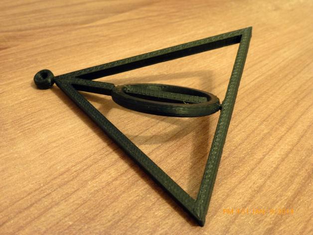 死亡圣器 纺纱环吊坠
