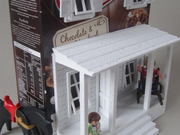 饼干屋 农舍 3D打印模型渲染图