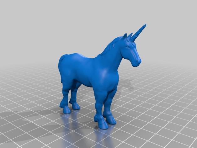 独角兽 3D打印模型渲染图