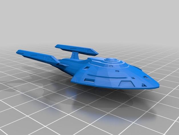 USS Aurora 飞船模型 3D打印模型渲染图