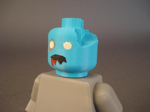 僵尸头  3D打印模型渲染图