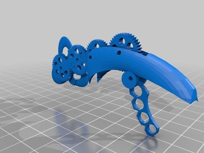 生化奇兵 天钩 3D打印模型渲染图