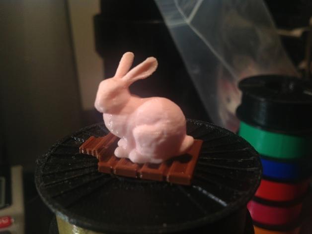 复活节兔子和块状糖 3D打印模型渲染图