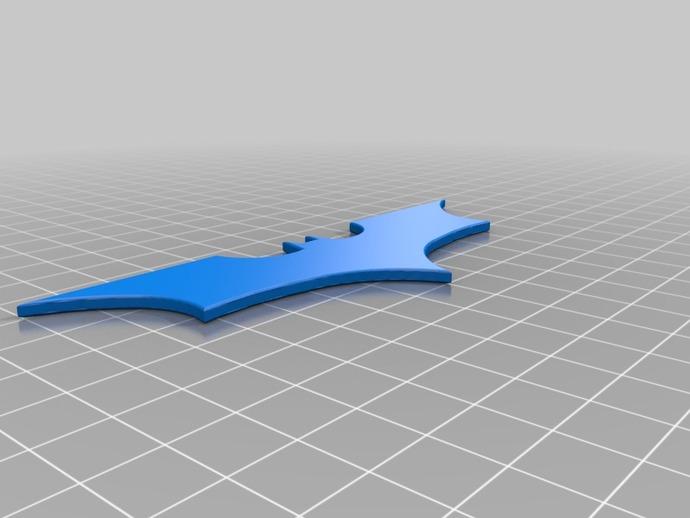 蝙蝠侠标志 3D打印模型渲染图