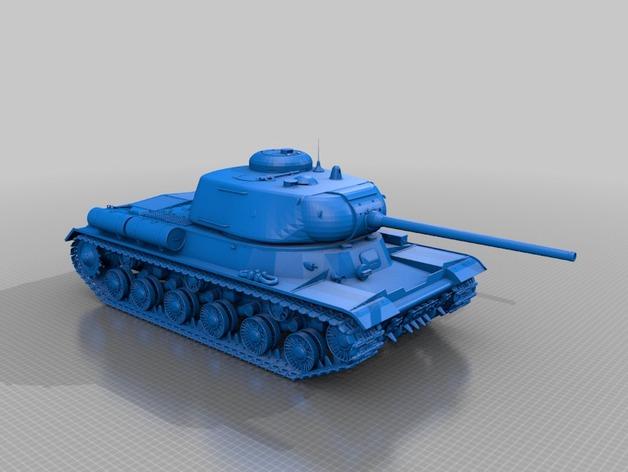 IS-1重型坦克 3D打印模型渲染图