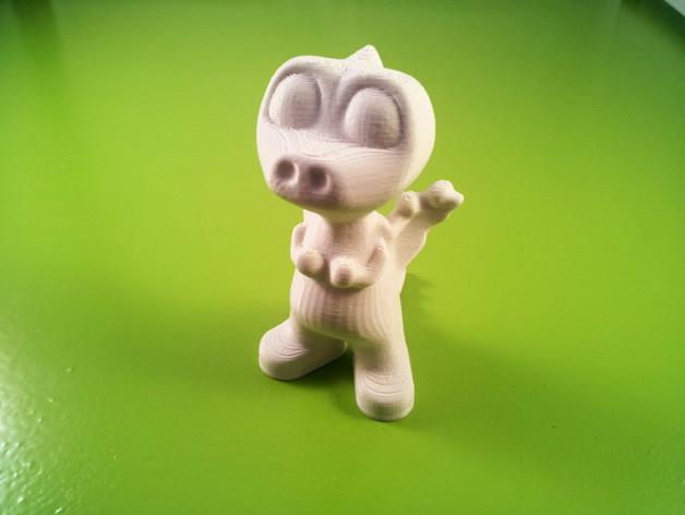 多洛丝龙  3D打印模型渲染图