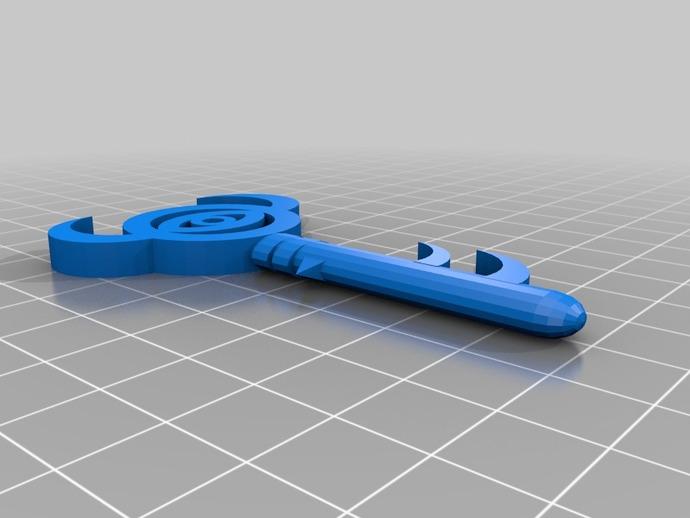 塞尔达传说 钥匙模型 3D打印模型渲染图