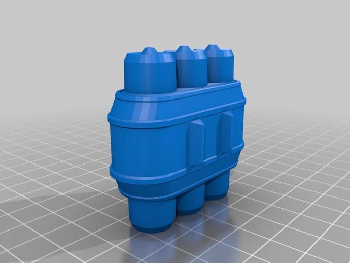 电池组套 3D打印模型渲染图