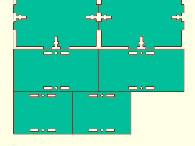 参数化激光切割盒子