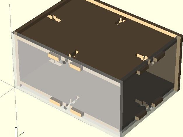 参数化激光切割盒子 3D打印模型渲染图