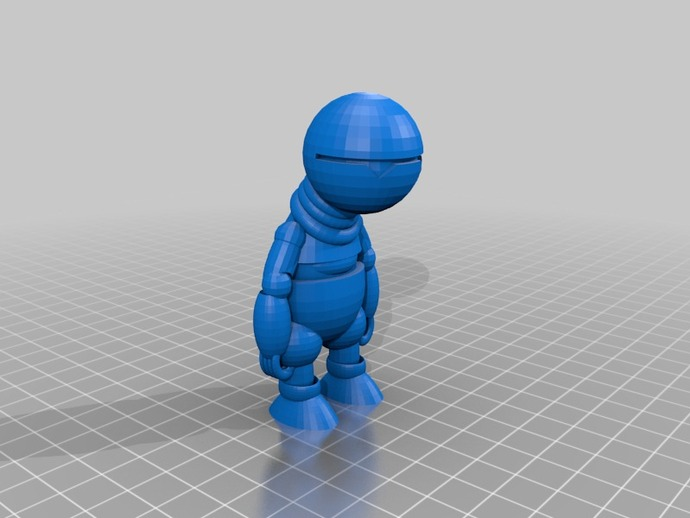 机器人马文 3D打印模型渲染图