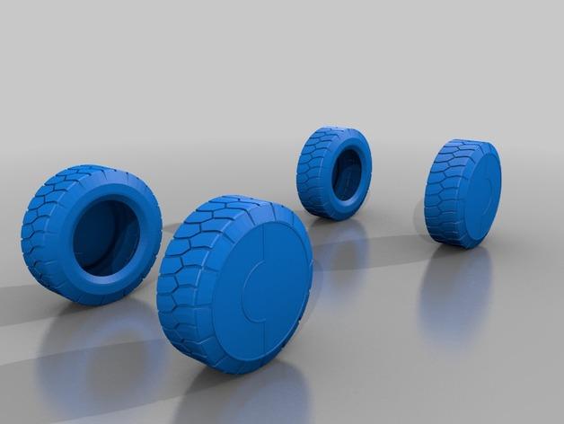 APC汽车车轮 3D打印模型渲染图
