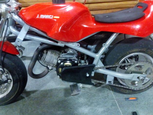 摩托车护链罩 3D打印模型渲染图