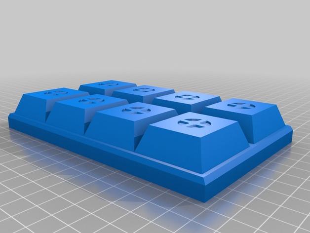 巧克力块 3D打印模型渲染图