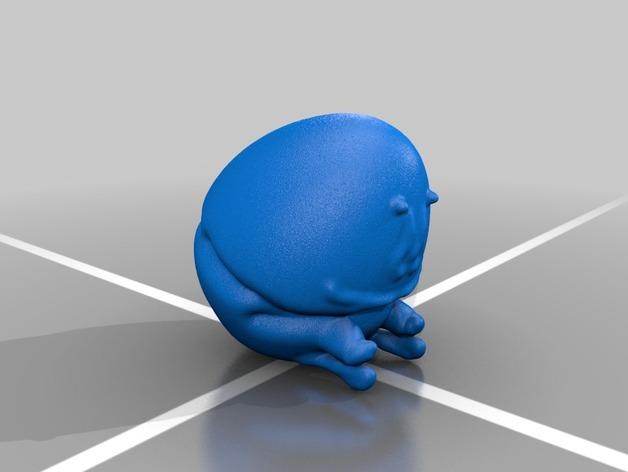 矮胖子 3D打印模型渲染图