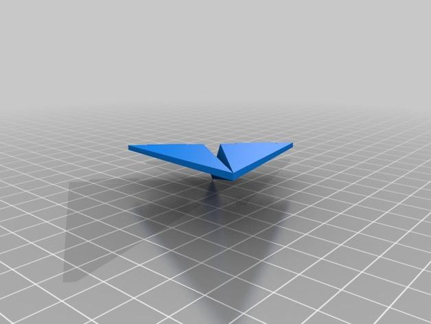 纸飞机 3D打印模型渲染图