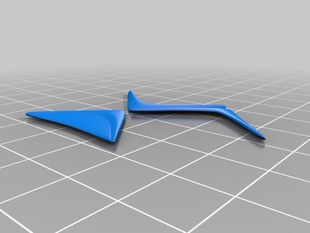 Citroën DS 标志 3D打印模型渲染图