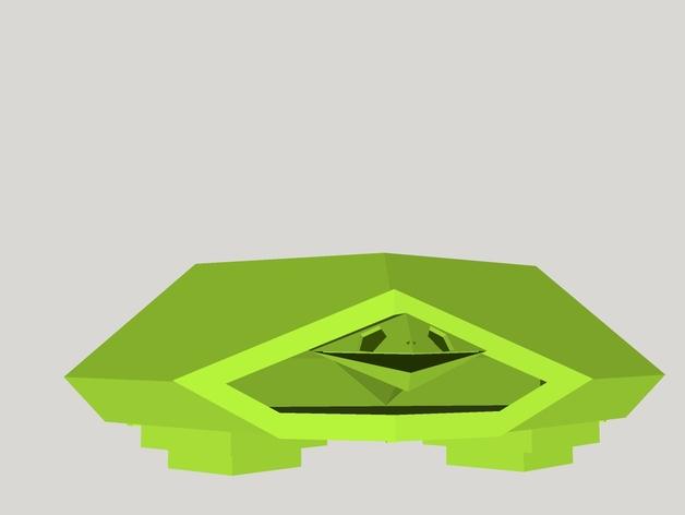 五边形海龟 3D打印模型渲染图